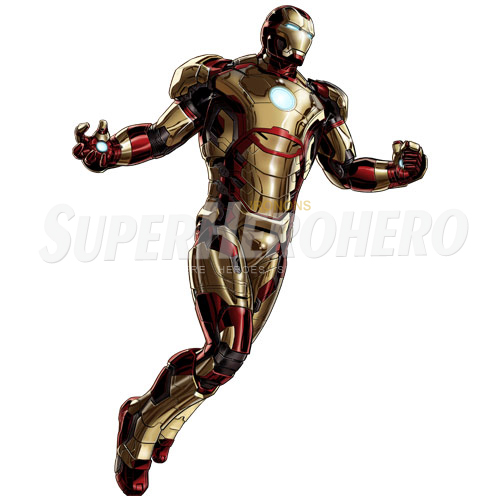 Designs Iron Man Iron on Transfers (Wall & Car Stickers) No.4582